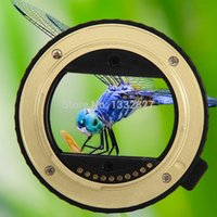 Wholesale Gold Auto Focus Macro Extension Tube Adapter MM MM for Sony E Mount NEX SGG