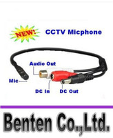 Wholesale Mini Mic Voice Audio Microphone RCA Output Cable for CCTV Security Camera DVRs Mic LLFA2101F
