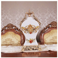 antique ceramic clocks - Crack ceramic clock European household sitting room adornment clock when furnishing articles Creative fashion table clock