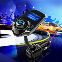 Wholesale Bluetooth Handsfree FM Transmitter Car Kit MP3 Music Player Radio Adapter with Volume Adjustable For Samsung LG Smartphone T10