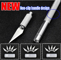 Wholesale Metal Handle Hobby Knife cutter knife craft knife pen cutter Blade Knives set for PCB Repair DIY tool