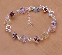 Wholesale 925 Silver Color Zircon Bracelet Christmas Gift Fashion Bracelet Women Chain Bracelet NK6