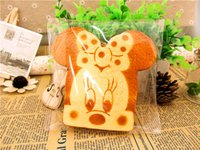 Wholesale 10 CM Simulation Scented Minnie toast with Original packing home decorations squishy