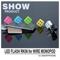 Wholesale RK enhancing selfie using sync LED flash led light for wire monopod selfie stick for mobile phone camera without any app