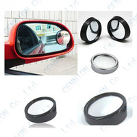 Wholesale Q40 Degree Rotate Car Blind Mirror Car Auto Side Rearview Round convex Wide Spot Angle Blind Mirror Black Silver type R