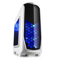 Wholesale 2015 Hot Sale Desktop computer case white with LED fan usb3 reader Freeshipping