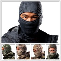 Wholesale Breathable Chiefs Rattlesnake Camo Tactical Mask Airsoft Paintball Full Face Mask Motorcycle Cycling Hunting CS Balaclava Mask