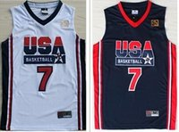 usa olympic basketball jersey - 1992 Olympic Game Dream Team USA Larry Bird Men s Authentic Navy White Basketball Jersey