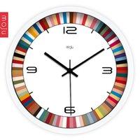 Wholesale Art color contracted Silent sitting room is a large metal clock clock wall clock quartz clock