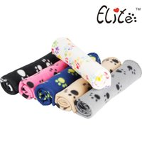 Wholesale Free DHL Cute Pet Dog Cat Blanket Paw Prints Soft Warm Fleece Mat Bed Cover Four Colors Choose Freeshipping