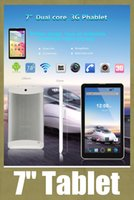 Wholesale 7 inch tablet created A7 android tablet pc quot dual core tablet cheap phablet g phone tablet support GPS dual sim VS inch tablet PH008