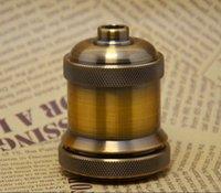 antique lamp bases - Vintage Loft Antique retro brown Bronze edison bulb lamp socket holder Aluminium E27 UL lamp bases