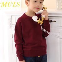best brand sweaters - sweater casaco roupa infantil Active Boys Full O neck Solid pullovers Muls brand Children s Clothing Best selling products