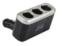 Wholesale 3Way Volt Multiport Usb Car Cigarette Lighter Power Socket Black Adapter