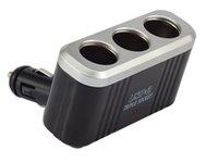 al por mayor 12 voltios adaptadores-3Way 12 Volt Multiport 2 Usb coche encendedor de encendedor Power Socket Negro adaptador