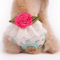al por mayor dog underwear-Perro Ropa para mascotas perros fisiológicos pantalones ropa ropas admiten menstruales pantalones del pañal de la ropa interior de Navidad para el nuevo S M L XL de la e-Paquete