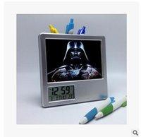 Wholesale 36style Star Wars Digital Alarm Clocks Brush pot clock Big hero Creative Clock Darth Vader stormtrooper clocks Christmas Gifts1553