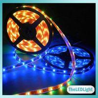 Wholesale 5M SMD RGB Led Strip Leds m V IP65 Waterproof Flexible Led Strip Lights