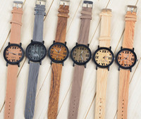 wood watches wholesale - Luxury watches the latest Wristwatches fashion watch wood watches for men and women in Roman multicolor casual fashion watches