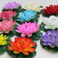 best planted tanks - Best CM Diameter Artificial Lotus Simulation Lotus PU Lotus Flower floating water Home garden fish tank Decoration Lotus