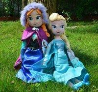 Wholesale 30pcs frozen doll cm New elsa anna frozen toy plush doll action figures frozen dolls Cheap Christmas Gift Z