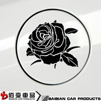automotive fuel tanks - Automotive fuel tank cap stickers personalized car stickers reflective scratch decorative arts Rose garland can be customized