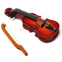 Wholesale 1 Dollhouse Miniature Wooden Handmade Violin Bow Musical Instrument