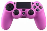 Gros-pour le contrôleur de PS4 couleur rose en silicone souple Housse de protection de la peau pour Grip Case caoutchouc PS4 contrôleur couleur rose mod