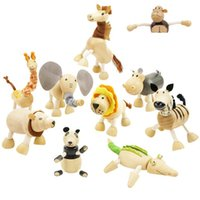 Wholesale Amazon Animals Dolls Children s Educational Toys Wooden Animal Dolls Action Figures Baby Toy Many Styles Mixed