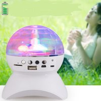 mirror ball disco ball - Wireless Bluetooth Mini MP3 Music Speaker LED Disco Mirror Ball Club Party Player Rave Portable Stage Light Up Dance Show Amplifier Crystal