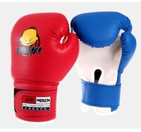 Wholesale Age Kids Children Cartoon Sparring MMA Boxing Gloves styles Red and blue Training protective clothing punching gloves newest