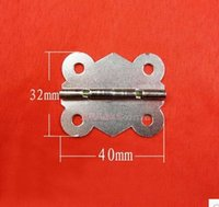 antique cabinet hinges - D018 antique butterfly small hinge cabinet hardware accessories lace hinges box