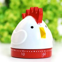 Wholesale 60 min Cartoon Flat Chicken Shaped Mechanical Kitchen Timer Cooking Count Down