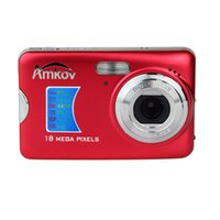 Wholesale AMKOV MP Digital Camera CMOS Sensor quot TFT X Zoom Face Detection Anti shake Black Red Silvery E5187