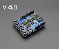 arduino uno duemilanove - hot sell New Sensor Shield V4 digital analog module for Arduino UNO Mega Duemilanove AVR High quality free shipp