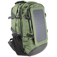 Wholesale ECEEN Watts Solar Backpack Solar Panel Bag Nylon Materials with mAh Power Battery Pack Charge for Smart Phones and Other V Device