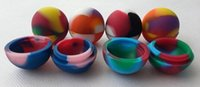 Wholesale 2015 New Colorful Ball Shape Silicone Container Nonsolid Color Pure Color Jars Dab for Dry Herb Atomizer AGO G5 Wax Vaporizer E Cigarette