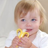 Wholesale New Arrivals Children s Baby s Banana Toothbrush Teething Rings Stick Chews Soothers Cute Silicone KC16