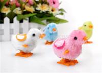 Wholesale Lovely vintage toy Plush Chicken Toy for Children Kids Wind Up Chicken Toys Baby Clockwork Chicken