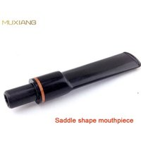 Cheap Straight Saddle 9mm Diameter Tenon 9mm Filter Adapted Single Red Ring in Stem Briar Tobacco Pipe Specialized Smoking Pipe Mouthpiece
