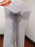 banquet chair covers manufacturers - banquet chair covers grey chair bow organza sash chair wedding party bows manufacturer supplier