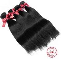 Wholesale EVET Brazilian Straight Hair Waves Brazilian Virgin Hair Silky Straight Weaves Remy High Grade Human Hair Bundles g pc
