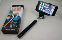 Cheap 2015 Chirstmas gift Brand KJStar Cable Take Pole Wired Selfie Monopod Mobile Cell Phone Extendable Handheld Stick For iPhone 6 5S 5 Z07-7