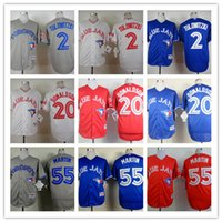 Wholesale 2015 Toronto Blue Jays Baseball Jerseys Troy Tulowitzki Josh Donaldson Blue White Grey Red Stitched Baseball Wear Athletic Mix Orders