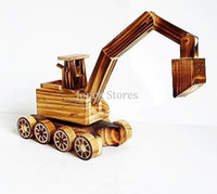 antique excavators - The new hot toy excavator model wood crafts gift wooden model YM272