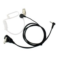 1 pin acoustic tube earpiece - 1 Pin PTT MIC Noise Reduction Covert Air Acoustic Tube Inera Earpiece For Motorola Walkie Talkie T6200C T5800 FRS PMR446 C9027A