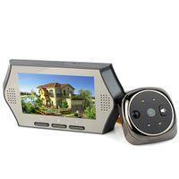 Wholesale 1 Camera w Monitor quot LCD Video Doorbell Peephole Viewer Eye Door Phone IR Motion Detection Camera Multi Language F4371H