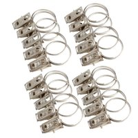 Wholesale New Stainless Steel Window Shower Curtain Rod Clips Rings Drapery Clips