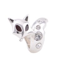 elephant charms - S925 Sterling Silver Fox Charms Compatible With Men Pendants Or Elephant Jewelry YZ069