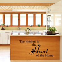 bedroom design inspiration - The Kitchen Is Heart Of The Home Decor Vinyl Wall Decal Quote Sticker Inspiration Kitchen Decoration Home Decor